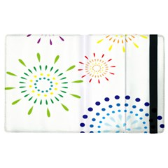 Fireworks Illustrations Fire Partty Polka Apple Ipad 2 Flip Case by Mariart