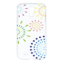 Fireworks Illustrations Fire Partty Polka Samsung Galaxy S4 I9500/i9505 Hardshell Case by Mariart