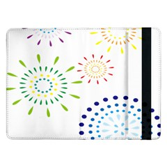 Fireworks Illustrations Fire Partty Polka Samsung Galaxy Tab Pro 12 2  Flip Case by Mariart