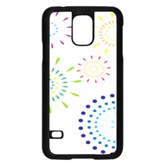 Fireworks Illustrations Fire Partty Polka Samsung Galaxy S5 Case (black)