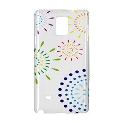 Fireworks Illustrations Fire Partty Polka Samsung Galaxy Note 4 Hardshell Case by Mariart