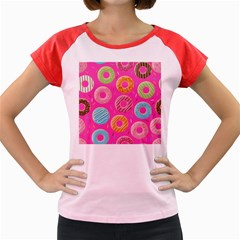 Doughnut Bread Donuts Pink Women s Cap Sleeve T Shirt by Mariart