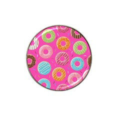 Doughnut Bread Donuts Pink Hat Clip Ball Marker (10 Pack) by Mariart