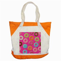 Doughnut Bread Donuts Pink Accent Tote Bag by Mariart