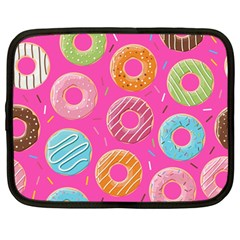 Doughnut Bread Donuts Pink Netbook Case (large) by Mariart