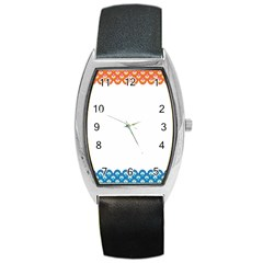 Fish Scales Dragon Circle Barrel Style Metal Watch by Mariart
