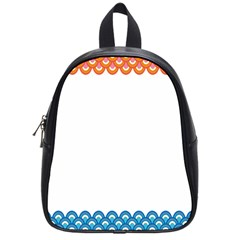 Fish Scales Dragon Circle School Bags (small)  by Mariart