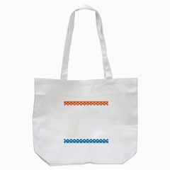 Fish Scales Dragon Circle Tote Bag (white) by Mariart