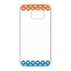 Fish Scales Dragon Circle Samsung Galaxy S7 White Seamless Case