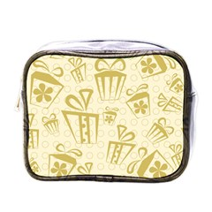 Gift Party Polka Grey Mini Toiletries Bags by Mariart