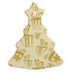 Gift Party Polka Grey Ornament (christmas Tree)  by Mariart