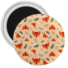 Foxes Animals Face Orange 3  Magnets by Mariart