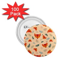 Foxes Animals Face Orange 1 75  Buttons (100 Pack)  by Mariart