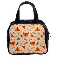 Foxes Animals Face Orange Classic Handbags (2 Sides) by Mariart