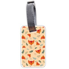 Foxes Animals Face Orange Luggage Tags (two Sides) by Mariart