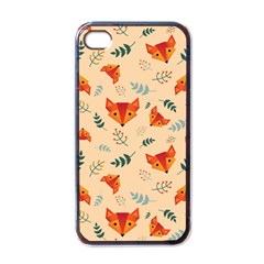 Foxes Animals Face Orange Apple Iphone 4 Case (black) by Mariart