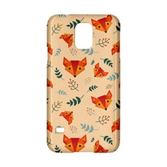 Foxes Animals Face Orange Samsung Galaxy S5 Hardshell Case  by Mariart