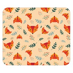 Foxes Animals Face Orange Double Sided Flano Blanket (small)  by Mariart