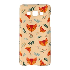 Foxes Animals Face Orange Samsung Galaxy A5 Hardshell Case  by Mariart