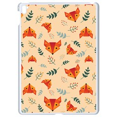 Foxes Animals Face Orange Apple Ipad Pro 9 7   White Seamless Case by Mariart
