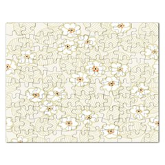 Flower Floral Leaf Rectangular Jigsaw Puzzl by Mariart