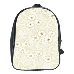 Flower Floral Leaf School Bags(large)