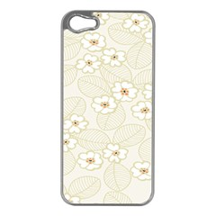 Flower Floral Leaf Apple Iphone 5 Case (silver) by Mariart