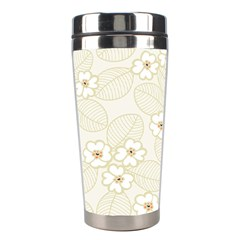 Flower Floral Leaf Stainless Steel Travel Tumblers by Mariart