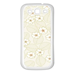 Flower Floral Leaf Samsung Galaxy S3 Back Case (white) by Mariart