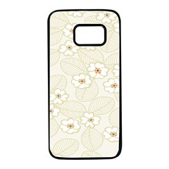 Flower Floral Leaf Samsung Galaxy S7 Black Seamless Case by Mariart