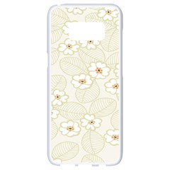 Flower Floral Leaf Samsung Galaxy S8 White Seamless Case by Mariart
