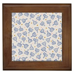 Glass Polka Circle Blue Framed Tiles