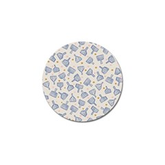 Glass Polka Circle Blue Golf Ball Marker (4 Pack) by Mariart
