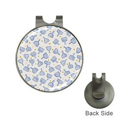 Glass Polka Circle Blue Hat Clips With Golf Markers by Mariart