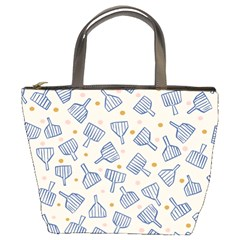 Glass Polka Circle Blue Bucket Bags by Mariart
