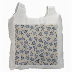 Glass Polka Circle Blue Recycle Bag (one Side) by Mariart