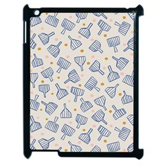 Glass Polka Circle Blue Apple Ipad 2 Case (black) by Mariart