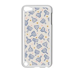 Glass Polka Circle Blue Apple Ipod Touch 5 Case (white) by Mariart