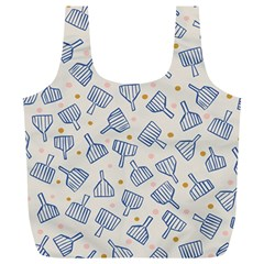 Glass Polka Circle Blue Full Print Recycle Bags (l)  by Mariart