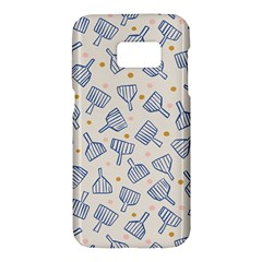 Glass Polka Circle Blue Samsung Galaxy S7 Hardshell Case  by Mariart