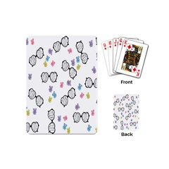 Glasses Bear Cute Doll Animals Playing Cards (mini)