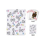 Glasses Bear Cute Doll Animals Playing Cards (Mini)  Back
