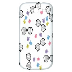 Glasses Bear Cute Doll Animals Samsung Galaxy S3 S Iii Classic Hardshell Back Case by Mariart