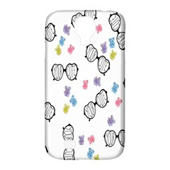 Glasses Bear Cute Doll Animals Samsung Galaxy S4 Classic Hardshell Case (pc+silicone) by Mariart
