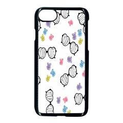 Glasses Bear Cute Doll Animals Apple Iphone 7 Seamless Case (black) by Mariart