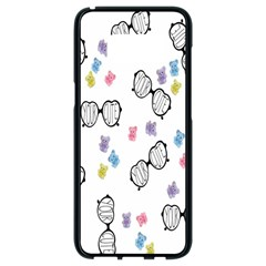 Glasses Bear Cute Doll Animals Samsung Galaxy S8 Black Seamless Case by Mariart
