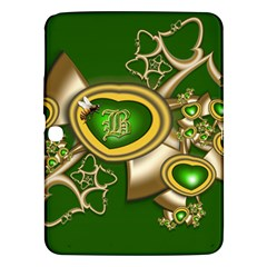 Green And Gold Hearts With Behrman B And Bee Samsung Galaxy Tab 3 (10 1 ) P5200 Hardshell Case  by WolfepawFractals