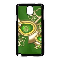 Green And Gold Hearts With Behrman B And Bee Samsung Galaxy Note 3 Neo Hardshell Case (black) by WolfepawFractals