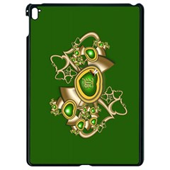 Green And Gold Hearts With Behrman B And Bee Apple Ipad Pro 9 7   Black Seamless Case