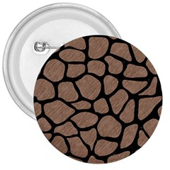 Skin1 Black Marble & Brown Colored Pencil 3  Button by trendistuff